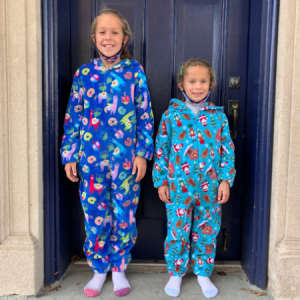 Stephanies Kloset - young girls in holiday PJs