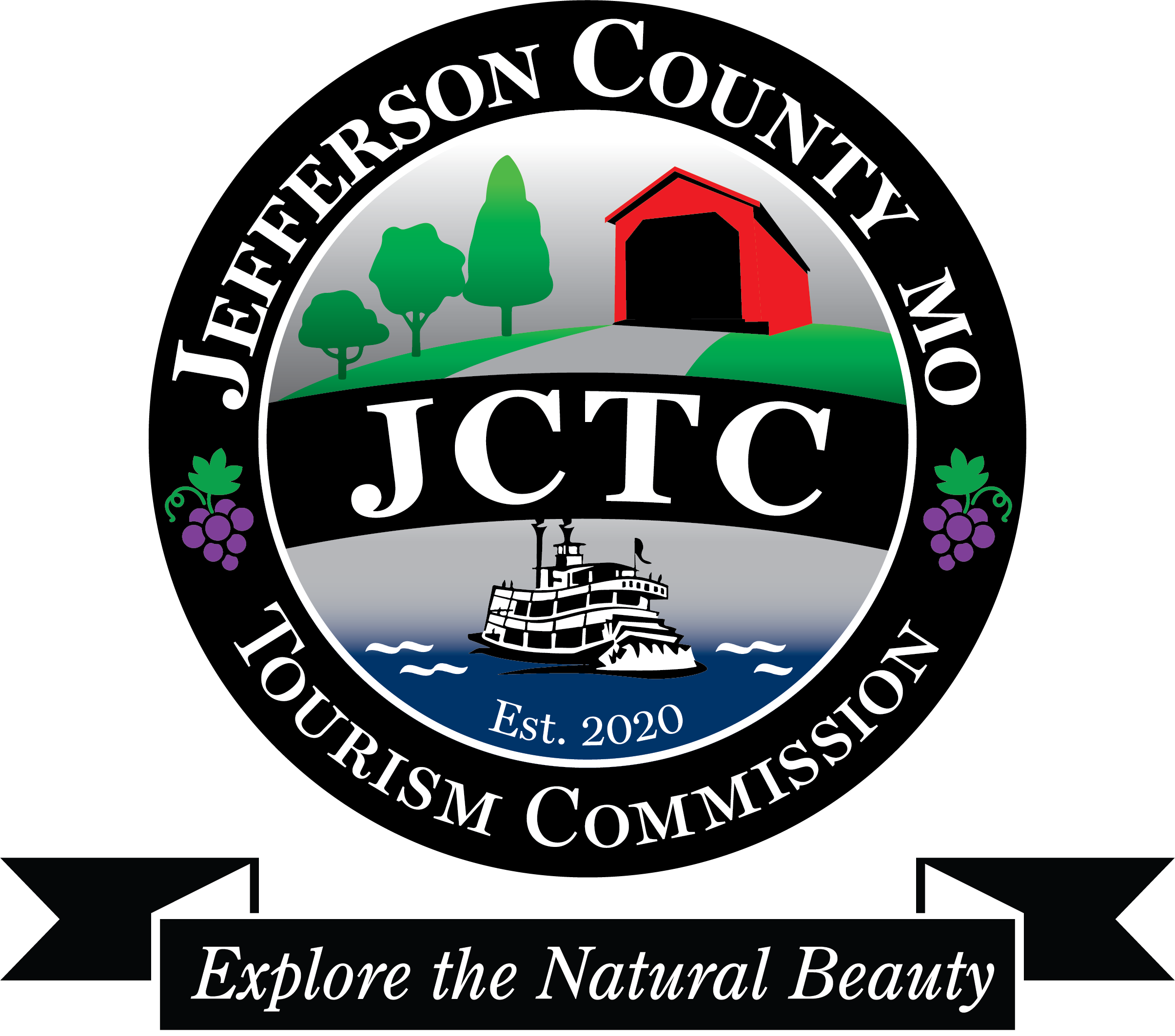 JCTC logo BW color pop_blue gray river