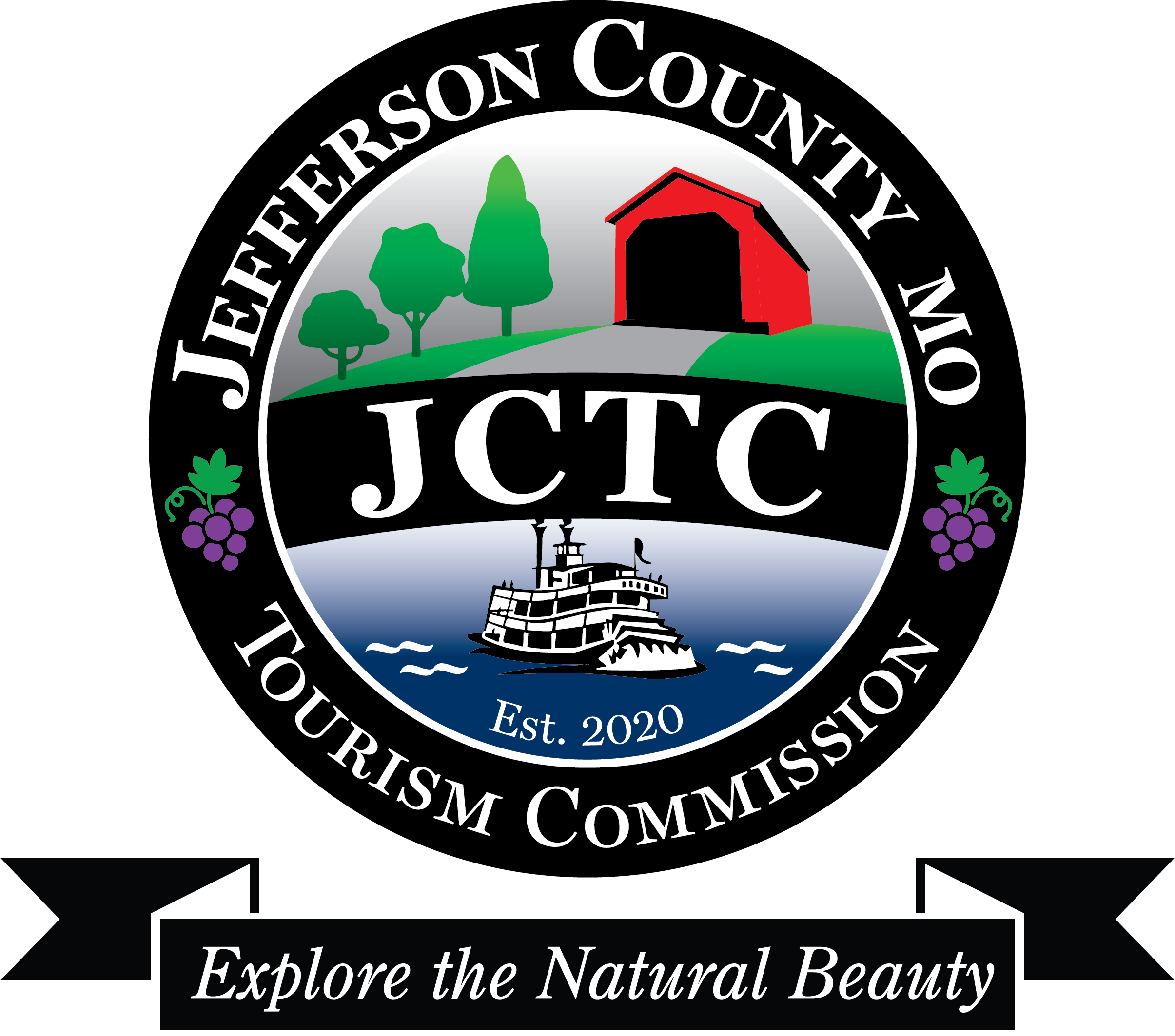 JCTC logo BW color pop_blue river