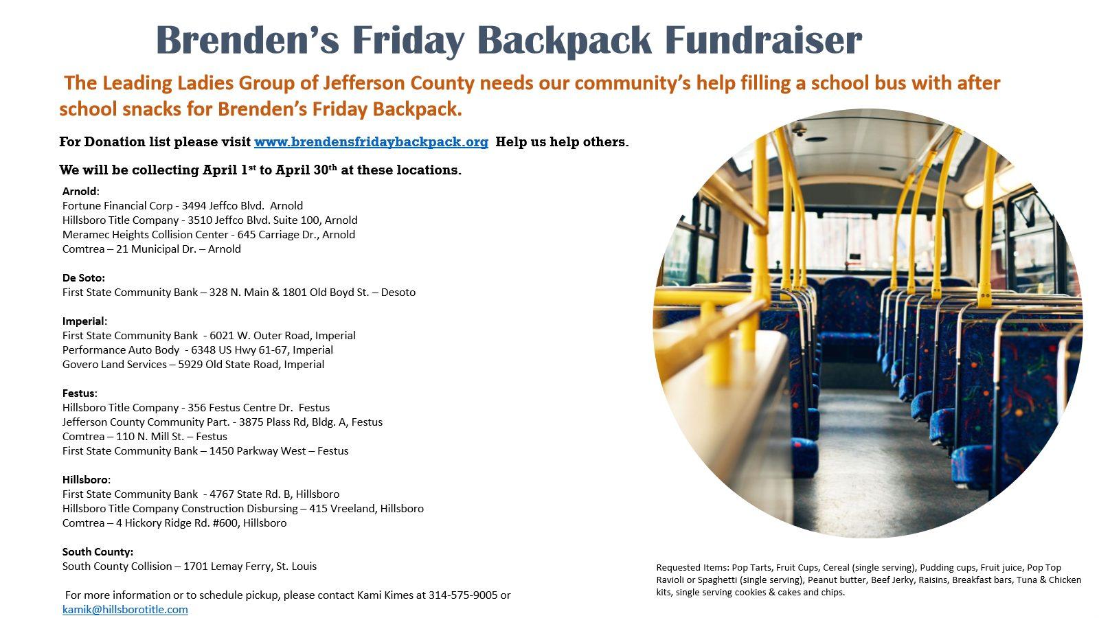 Brendan's Backpack 4-21