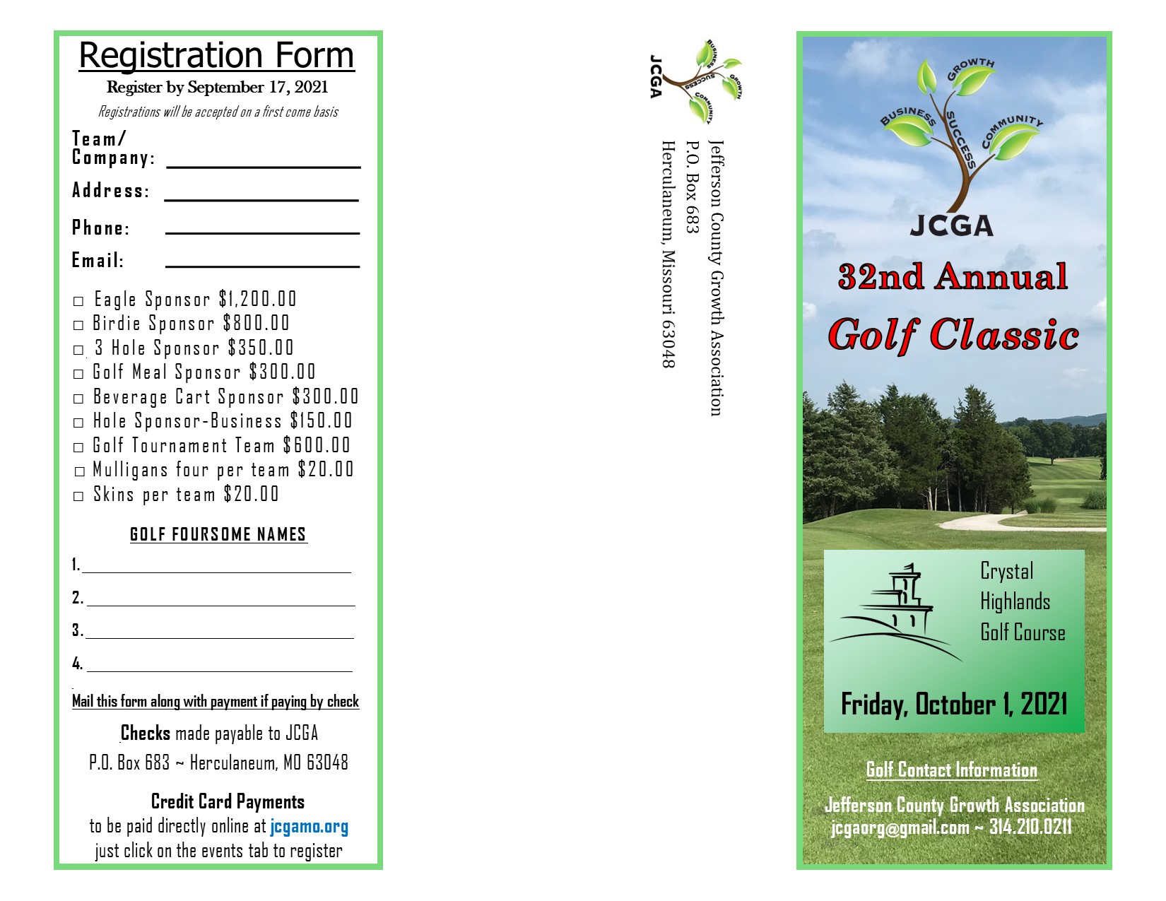 Golf Invitation - 2021 - revised cover page