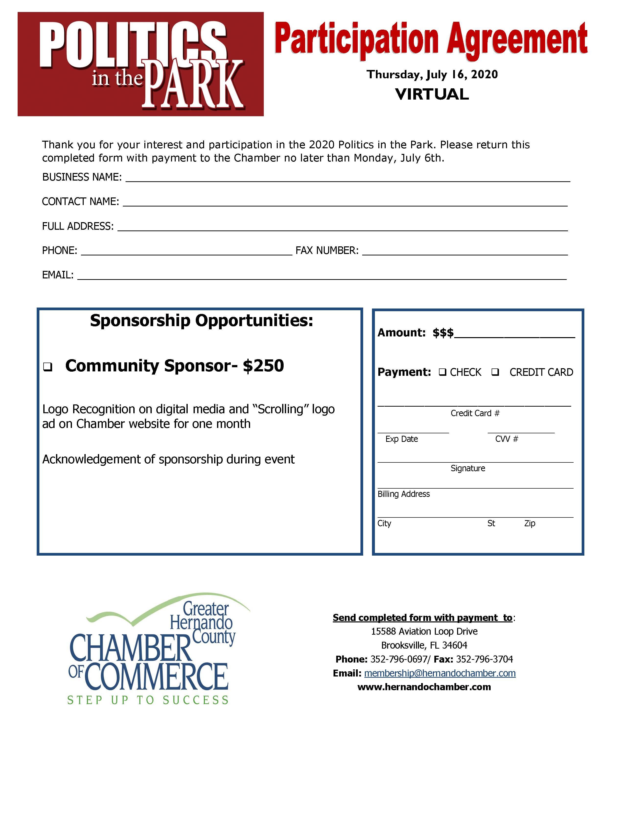 2020 PIP Participation Sponsor form
