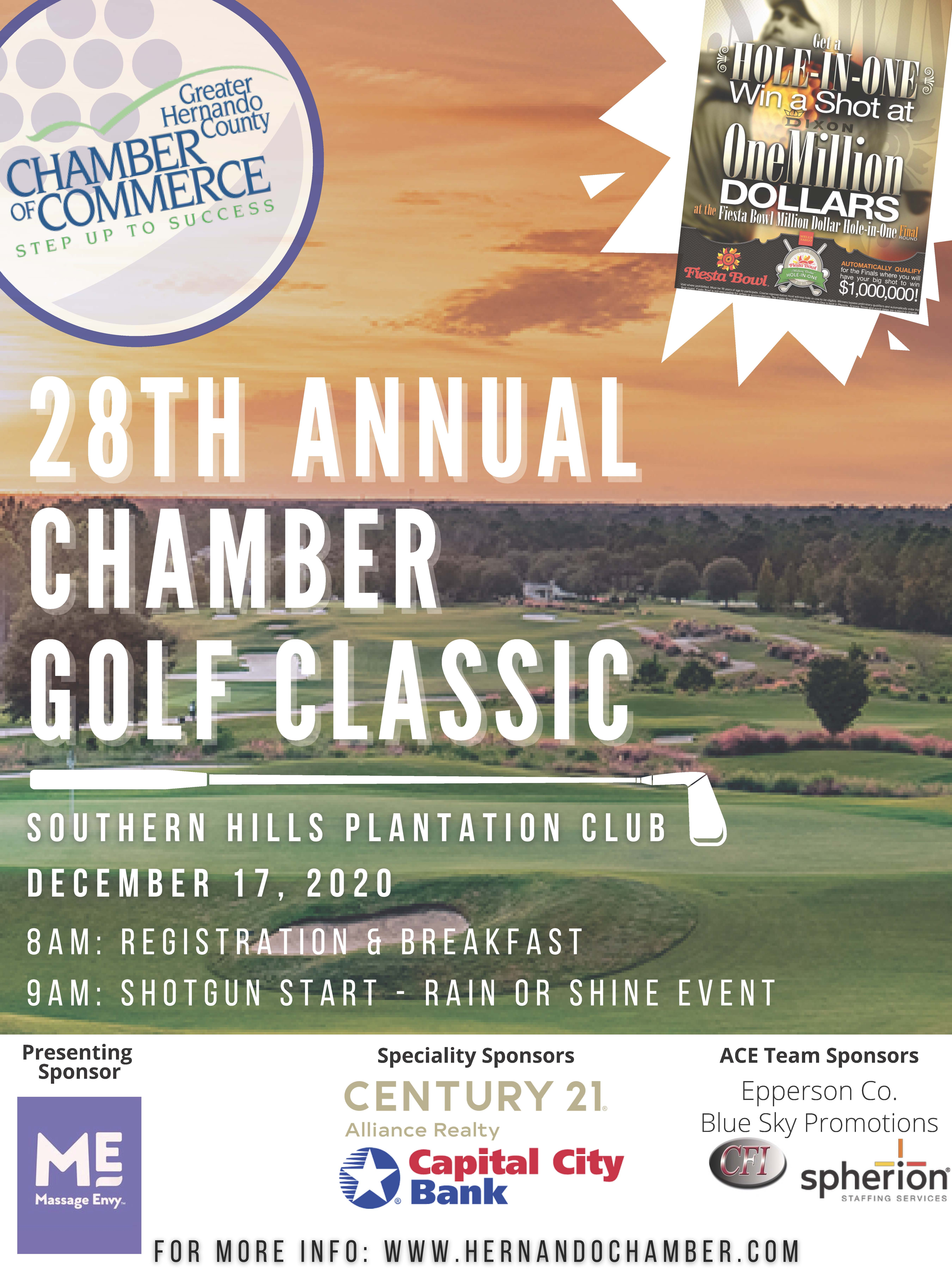 NEW Chamber Golf Classic Flyer