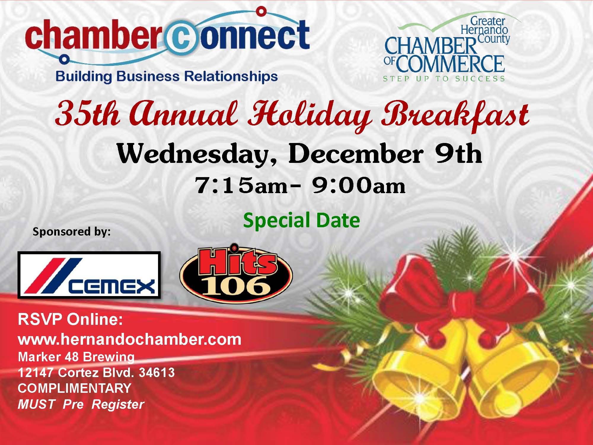 12 December Breakfast Promo Flyer
