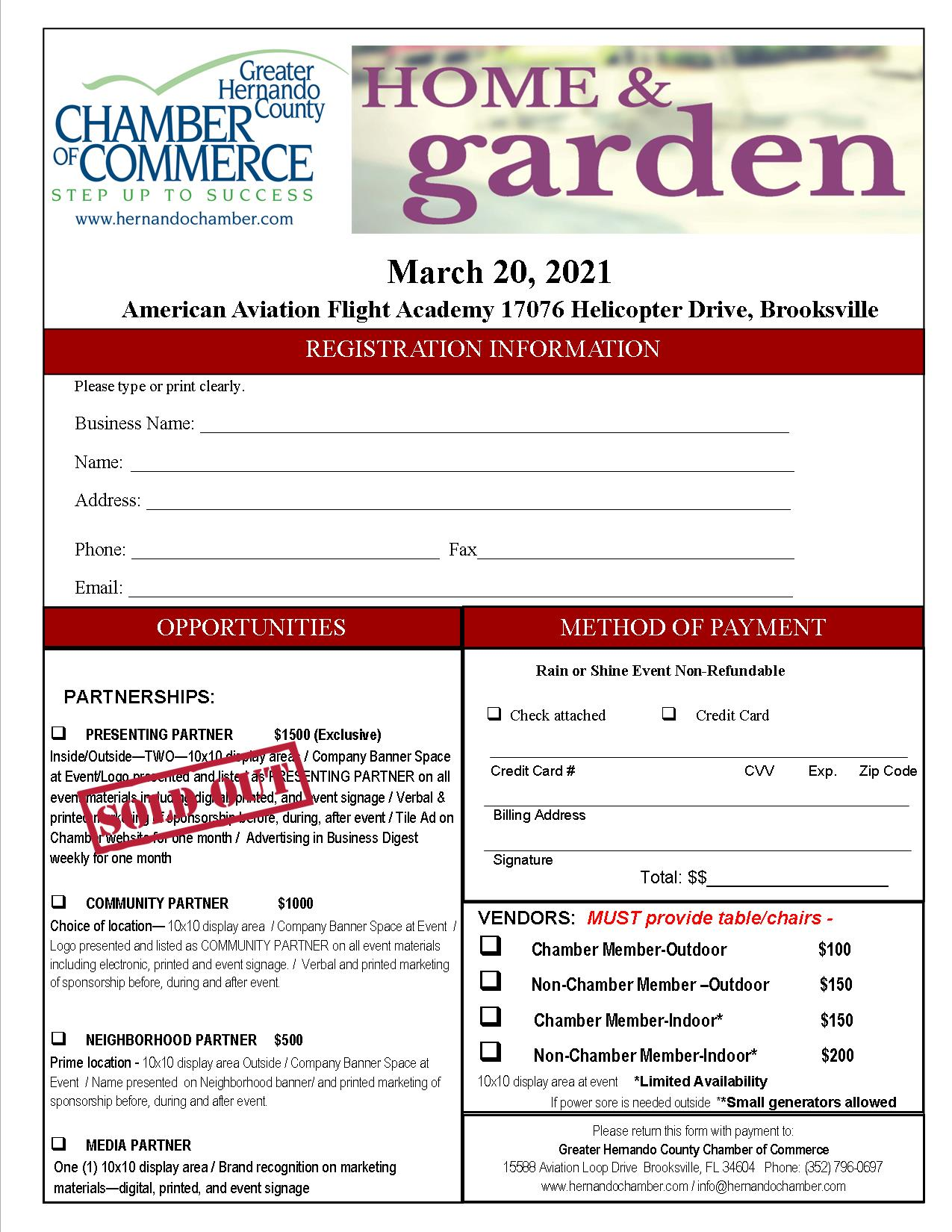 Sponsor Registration Form CURRENT 2