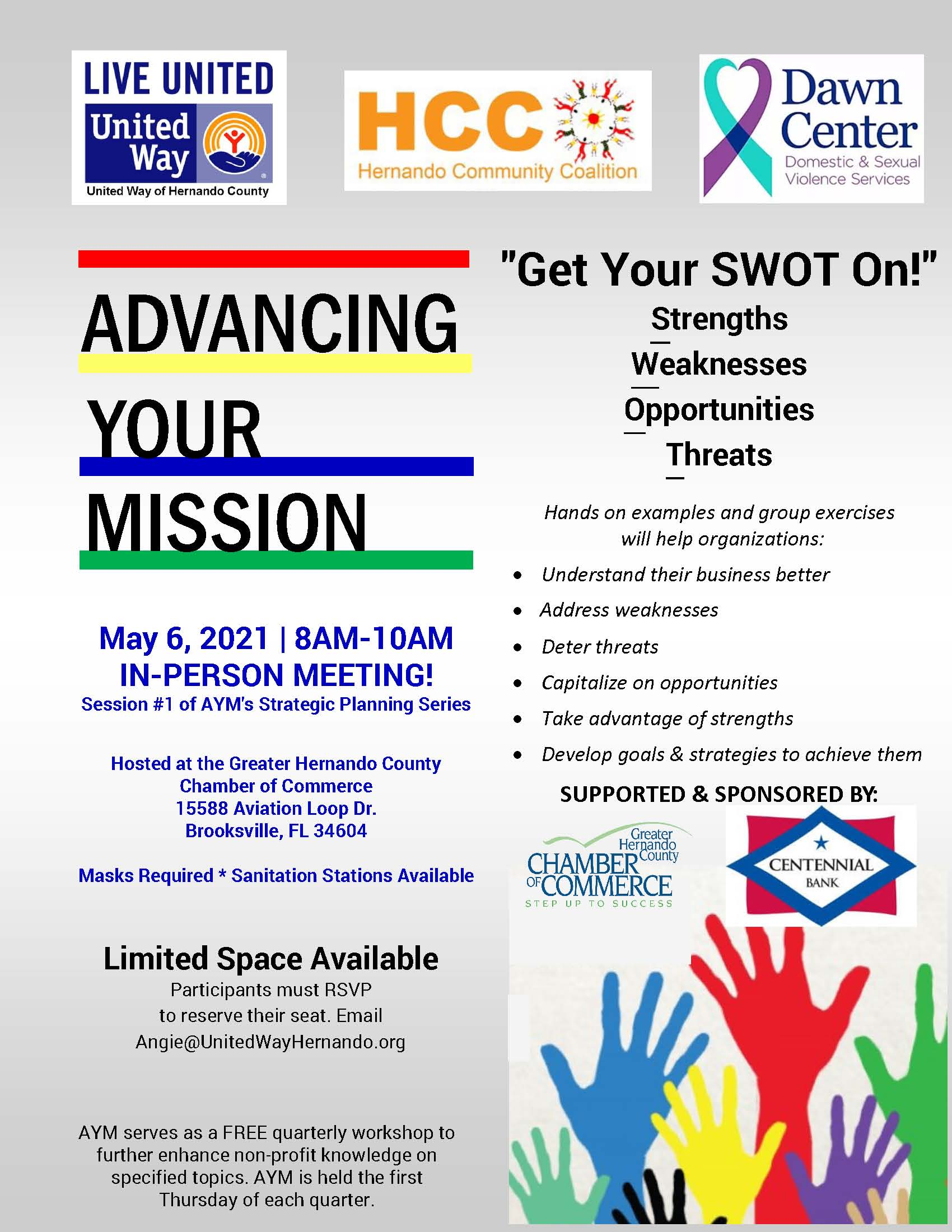AYM Get Your SWOT On! May2021 flyer