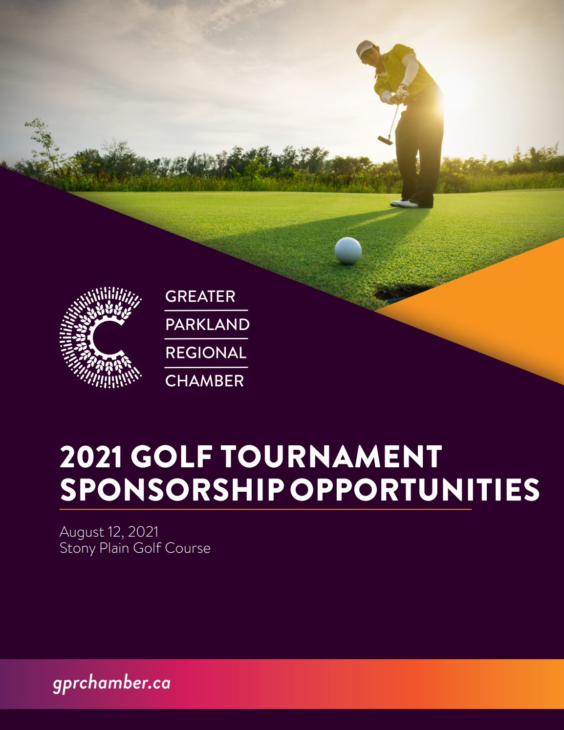 Golf Tournament Package Cover