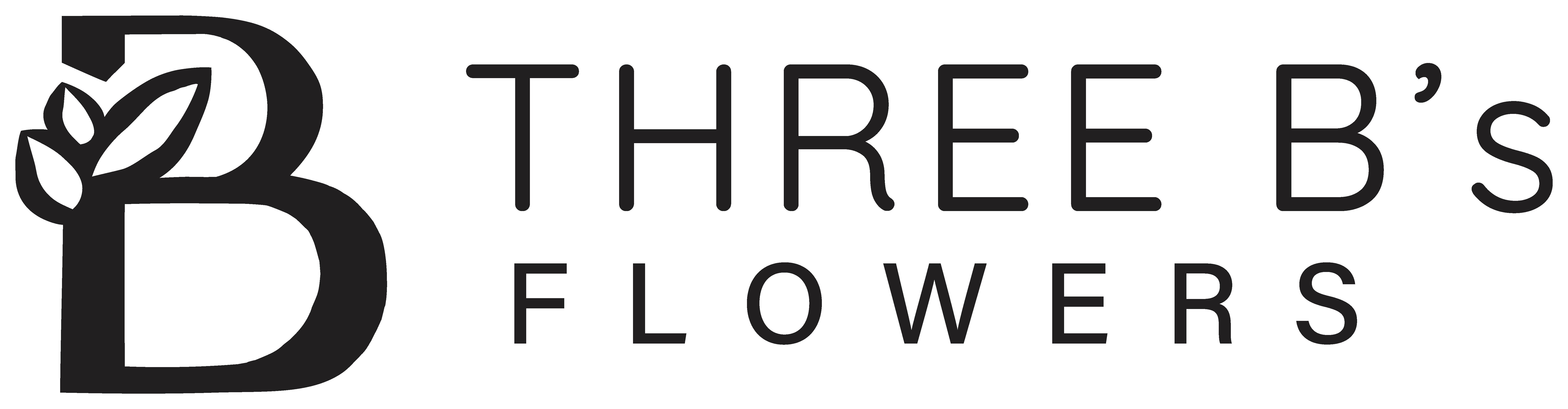 3Bs Flowers_logo 2021 Horizontal