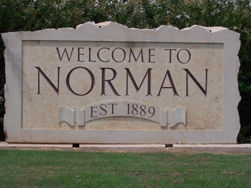 welcome to norman sign