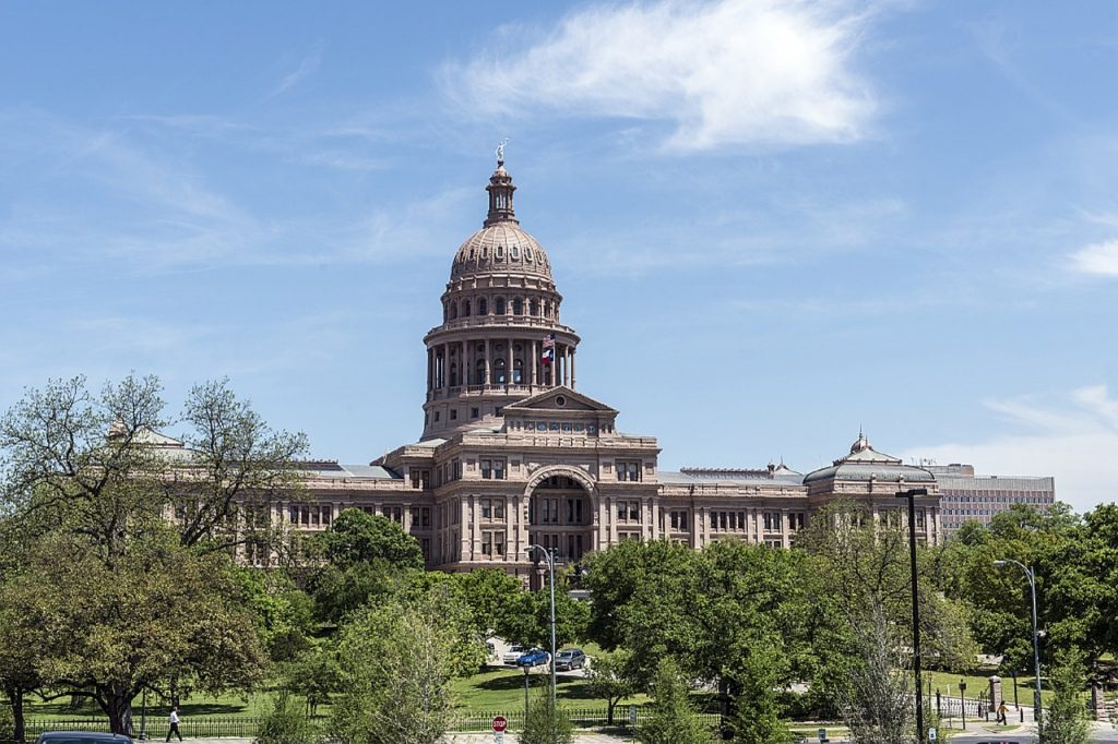 Texas state capital on sunny day