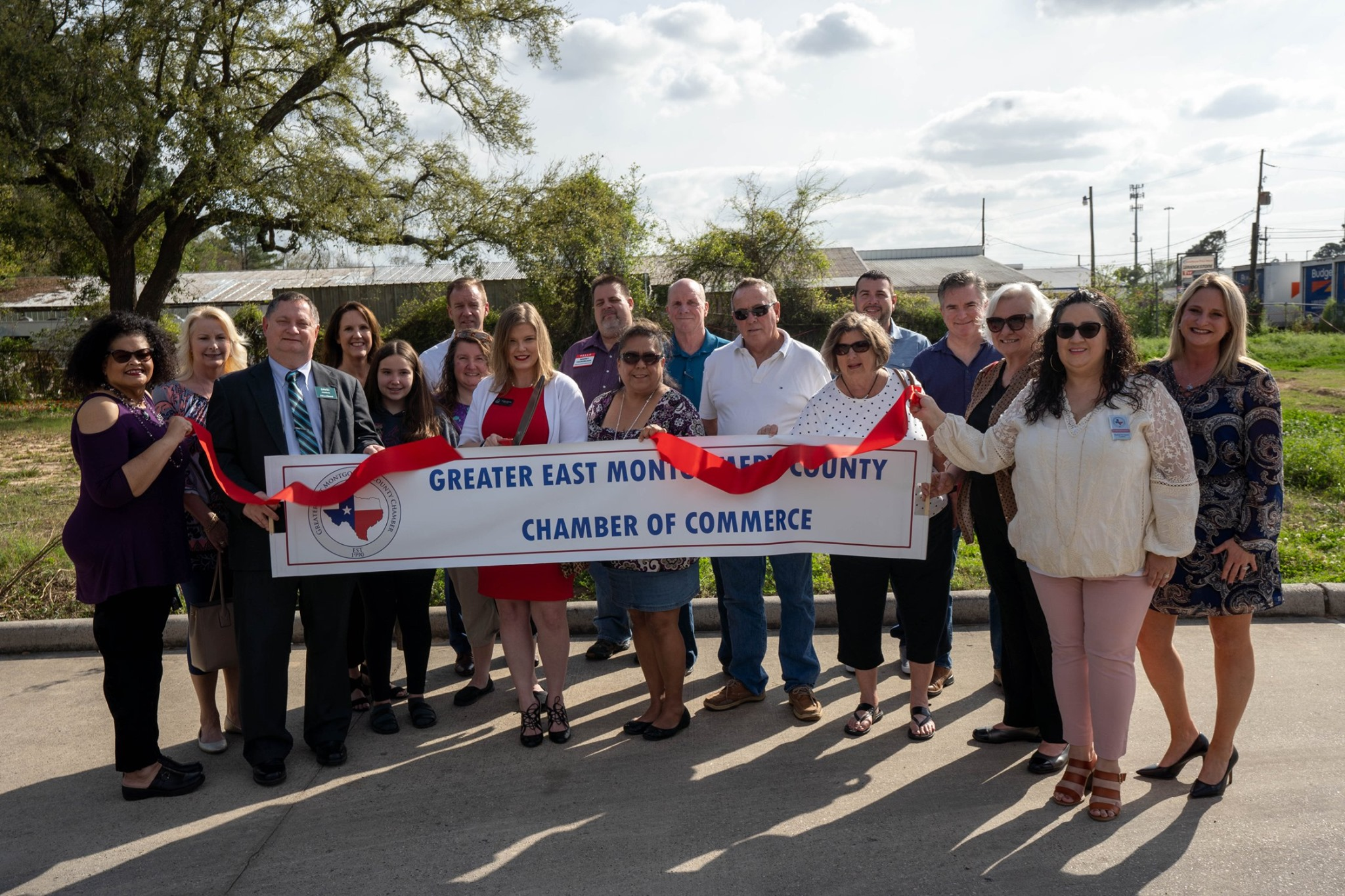 Outdoor ribbon cutting ceremony