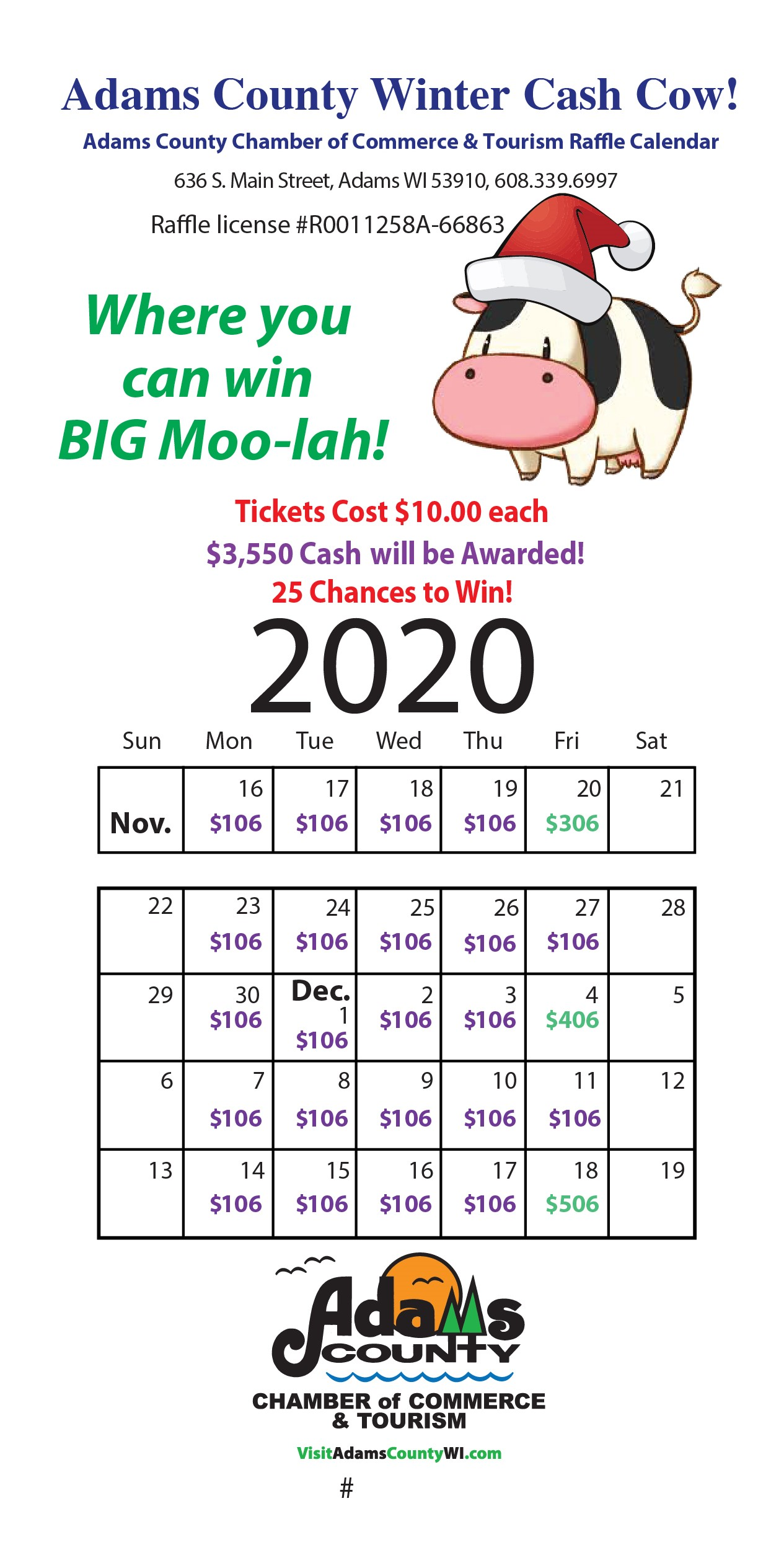 Winter cash cow raffle tickets 2020 - front-01 (004)