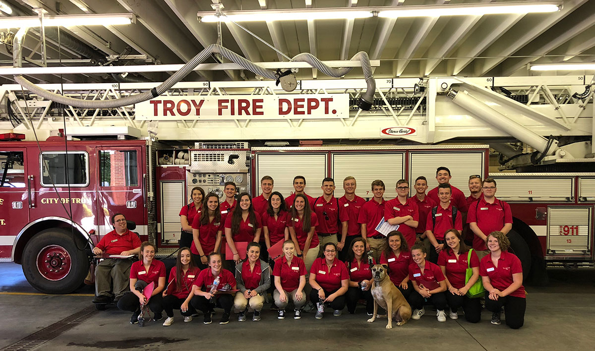 2018 Teen Leadership Troy Class at the Troy Fire Department.
