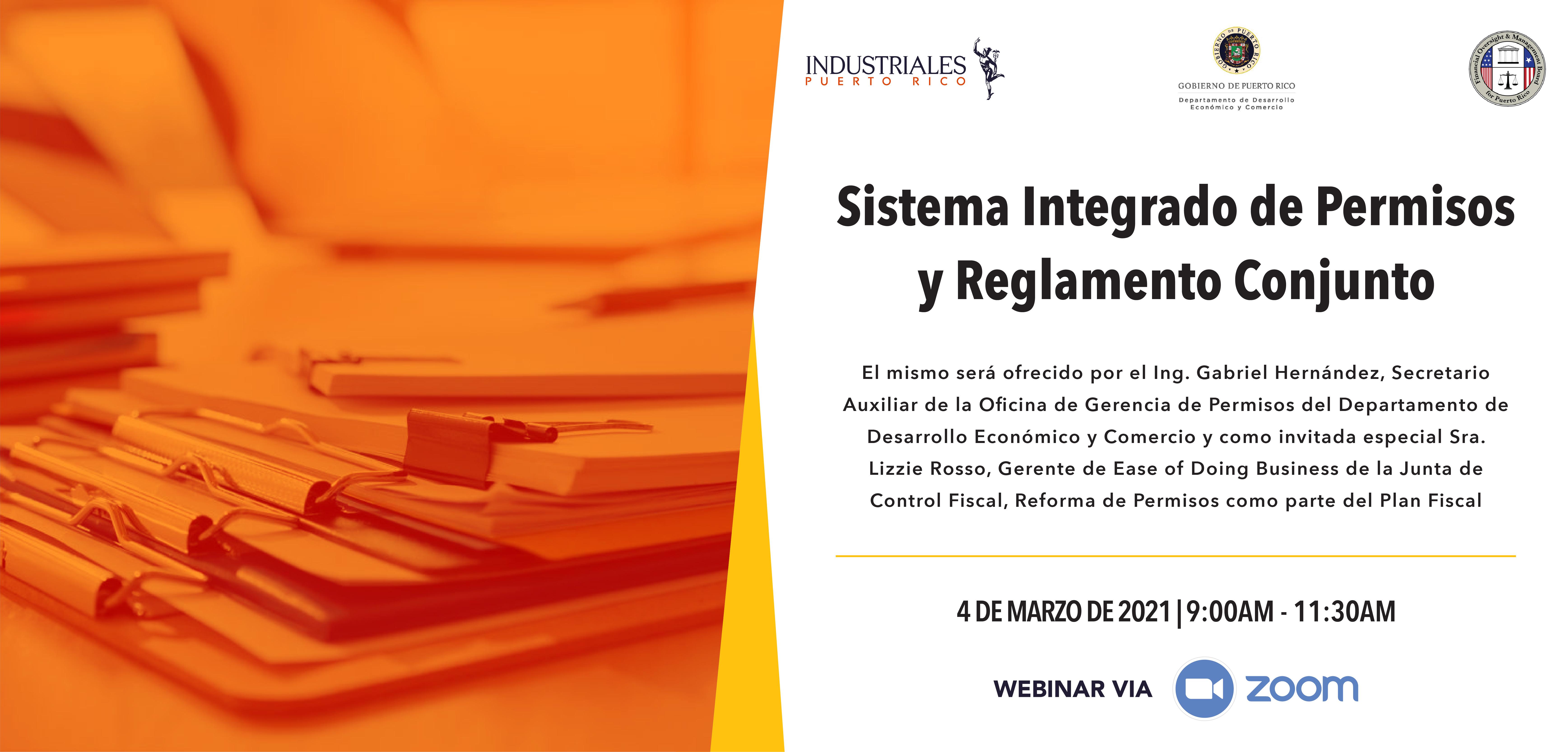 Sistema Integrado de permisos y reglamento conjunto