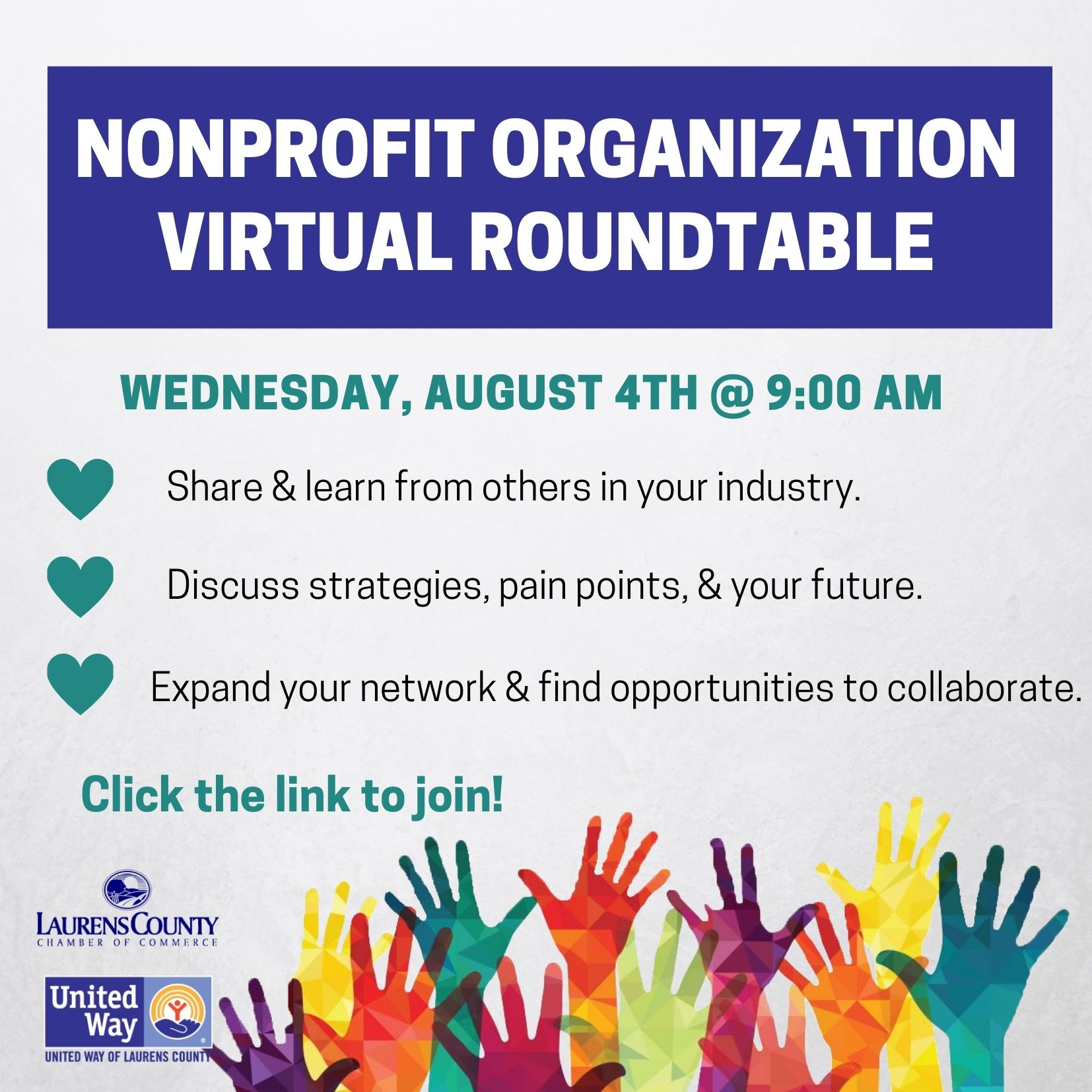 Nonprofit Roundtable Meeting August 4th, 2021