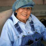 Galt woman wearing overalls