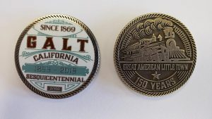 Galt 150th Limited Edition Challenge Coin Front and Back Photos of Coin