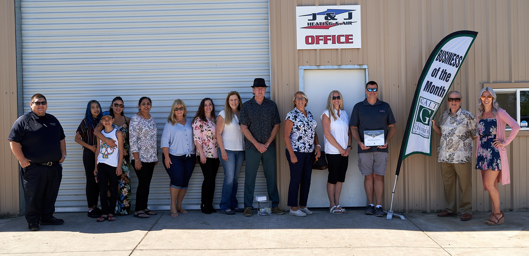 J & J Heating & Air, Inc. Staff Picture for August 2020's Business of the Month
