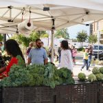 Photos of customers shopping at Galt Farmers Market