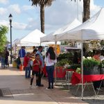 Photos of customers shopping at the Galt Farmers Market