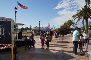 Photo of people visiting the Galt Farmers Market