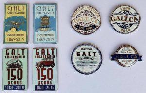 Galt 150th Celebration Commemorative Pins - Photos of all 8