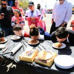 Pie eating contest at the Eggstravaganza