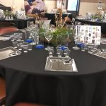 Photo of set table at Galt's Wine, Beer & Food event