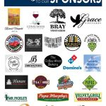 Photo of the Sponsors list from Galt's Wine, Beer & Food event