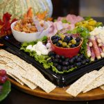 Photo of assorted meat, cheese, olives, garnishes & crackers at October 2020 Chamber Luncheon