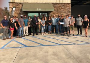 Photo of Galt Smog owners and community members - October 2020's Business of the Month celebration