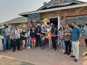 Photo of The Printing Kings Ribbon Cutting - Owners, staff & community members - October 1 2020