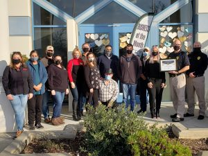 Group photo Business of the Month January 2021 Galt Police Department