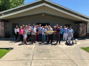 First Baptist Church group photo at ribbon cutting on May 27 2021