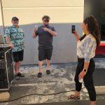 Photo of Brian King, Randy Morton & Jessica Ortiz at Carson's Coatings Mixer - June 24 2021