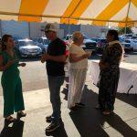 Guests at Carson's Coatings mixer & 30th business anniversary, Mayor Shawn Farmer, board member Amy Sandhu, Joan Werblun & Leticia Ordaz pictured - June 24 2021