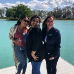 From left to right: Jessica Ortiz, Marisol Lawrence & Joanie Corona Valensin Vineyards luncheon - May 20 2021