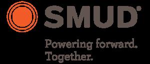"SMUD ""Powering forward. Together."" logo - 2021"