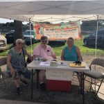 First Baptist Church of Galt's booth at the Farmers Market on July 30, 2021
