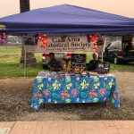 Galt Area Historical Society's booth at the Farmers Market - August 6 2021