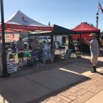 Galt United Methodist Church & Sunshine Food Pantry's booths at the Farmers Market on July 23, 2021