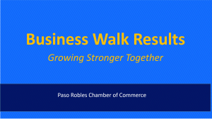 Business Walk Results