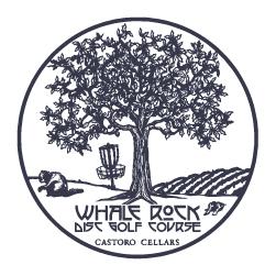 whale rock disc golf course logo