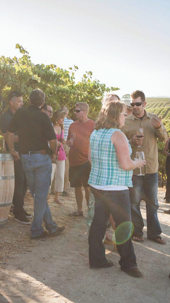 mixer at winery