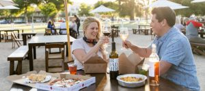 park dining in Paso Robles downtown city park