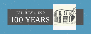 centennial birthday banner for the Paso Robles Chamber of Commerce