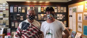 masked visitors in the paso robles visitor center
