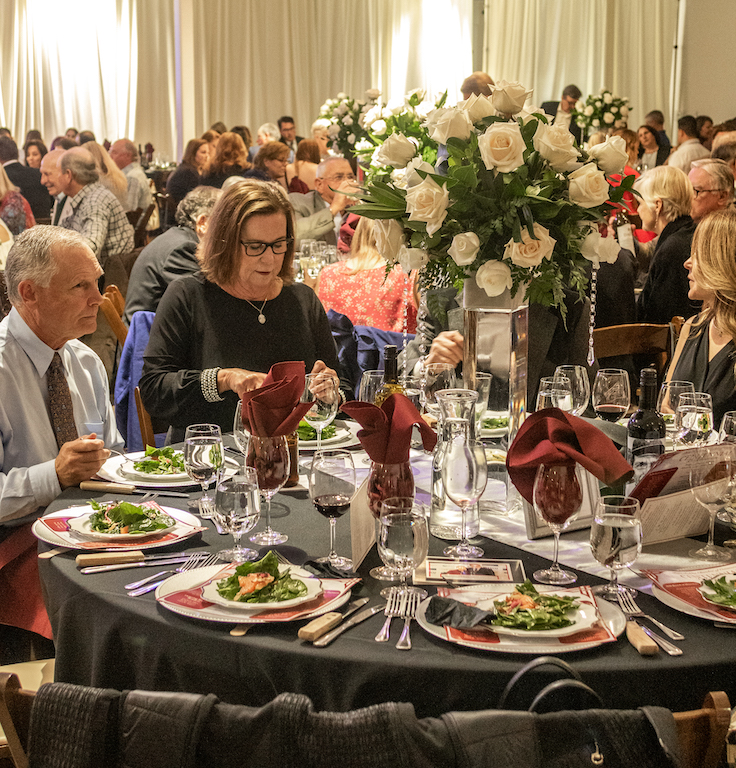 people gathered at the Paso Robles Chamber's centennial celebration