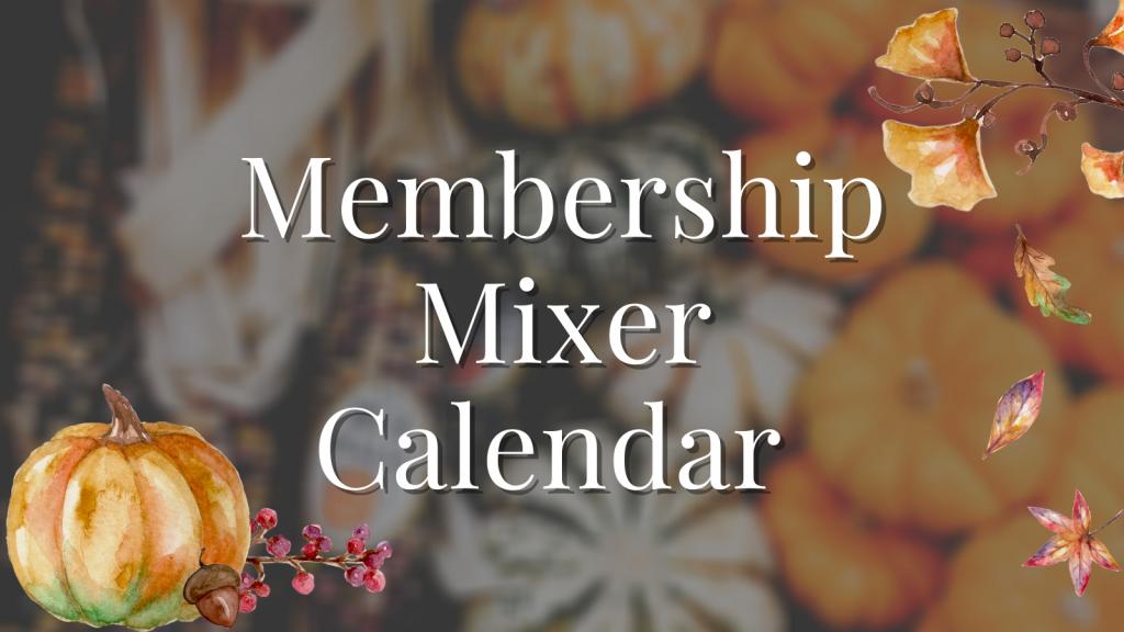 Fall mixer calendar graphic