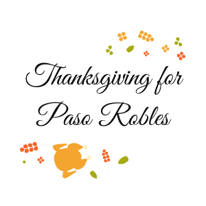thanksgiving for Paso Robles logo